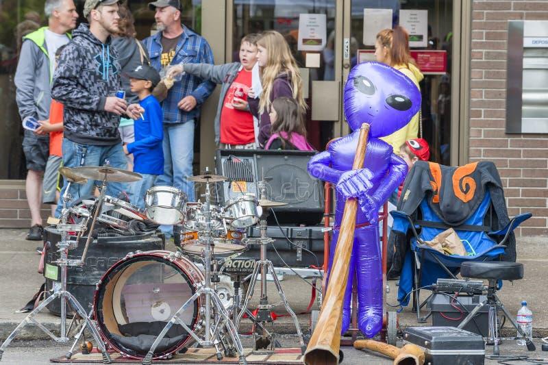 Jaarlijks UFOfestival in McMinnville Oregon royalty-vrije stock afbeelding