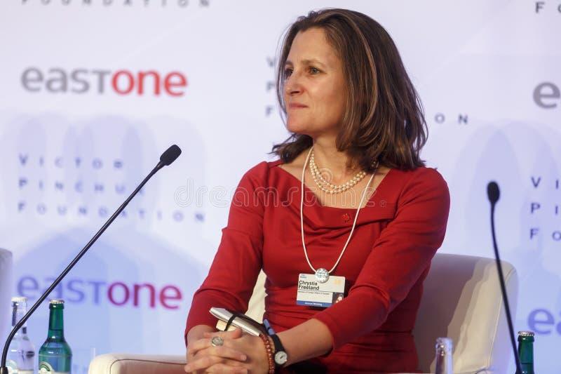 Jaarlijkse Vergadering 2018 van het wereld de Economische Forum in Davos royalty-vrije stock foto's
