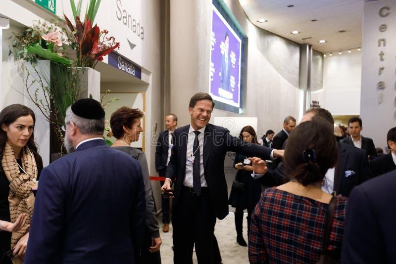 Jaarlijkse Vergadering van het wereld de Economische Forum in Davos royalty-vrije stock afbeeldingen