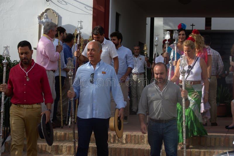 Jaarlijkse viering van het Patroonheilige in Carmona 8 royalty-vrije stock fotografie