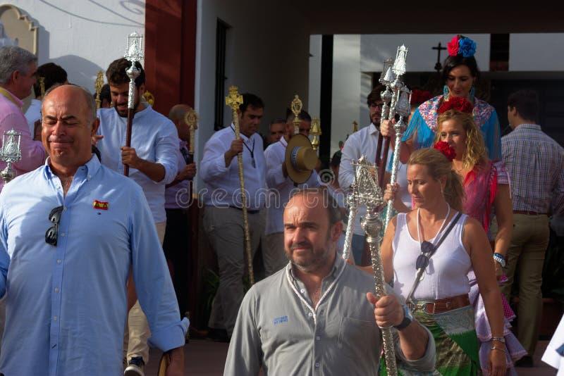 Jaarlijkse viering van het Patroonheilige in Carmona 9 royalty-vrije stock afbeeldingen