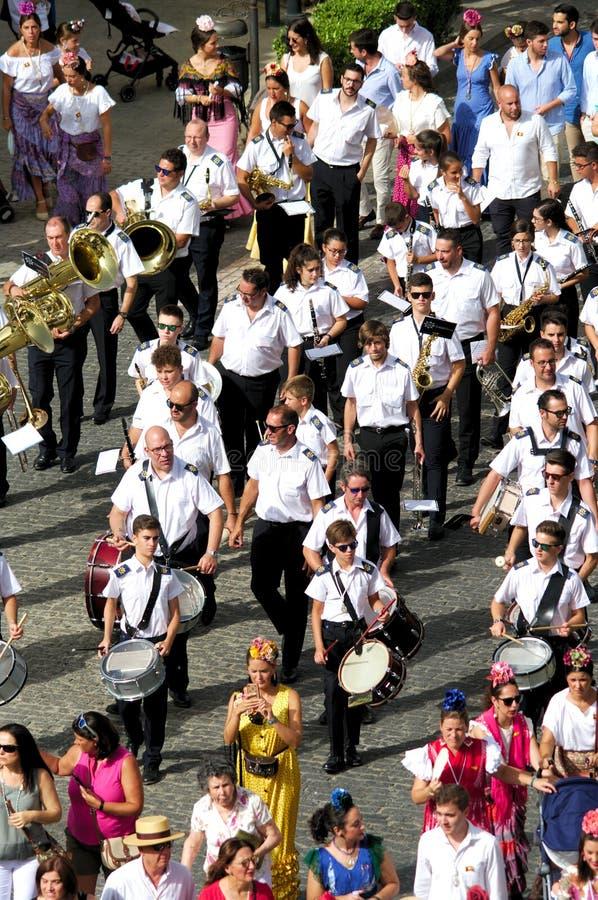 Jaarlijkse viering van het Patroonheilige in Carmona 28 royalty-vrije stock afbeelding