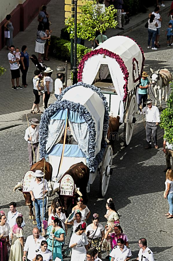 Jaarlijkse viering van het Patroonheilige in Carmona 34 royalty-vrije stock afbeeldingen