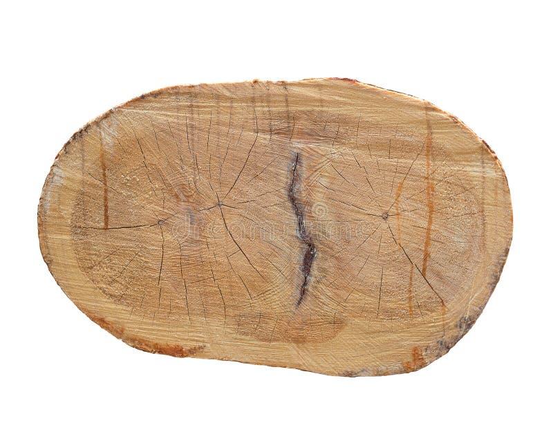 Jaarringen op de besnoeiingspijnboom Logboekenzaag zaagmolen Besnoeiingspijnboom stock fotografie