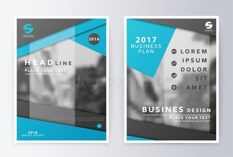 Jaarverslagbrochure Het malplaatje van het de vliegerontwerp van het businessplan stock illustratie