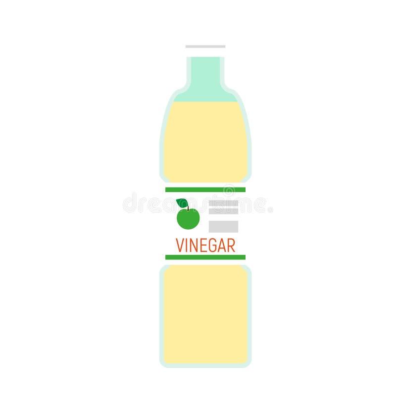 Jabłczana ocet butelki ikona, mieszkanie styl royalty ilustracja