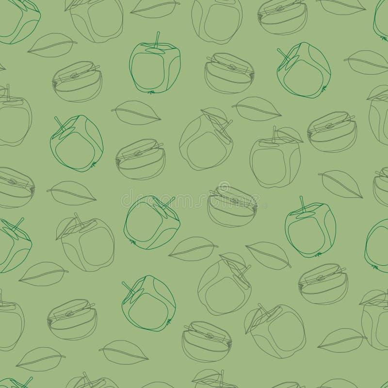 Jabłczana owoc powtarzający wzór ilustracja wektor