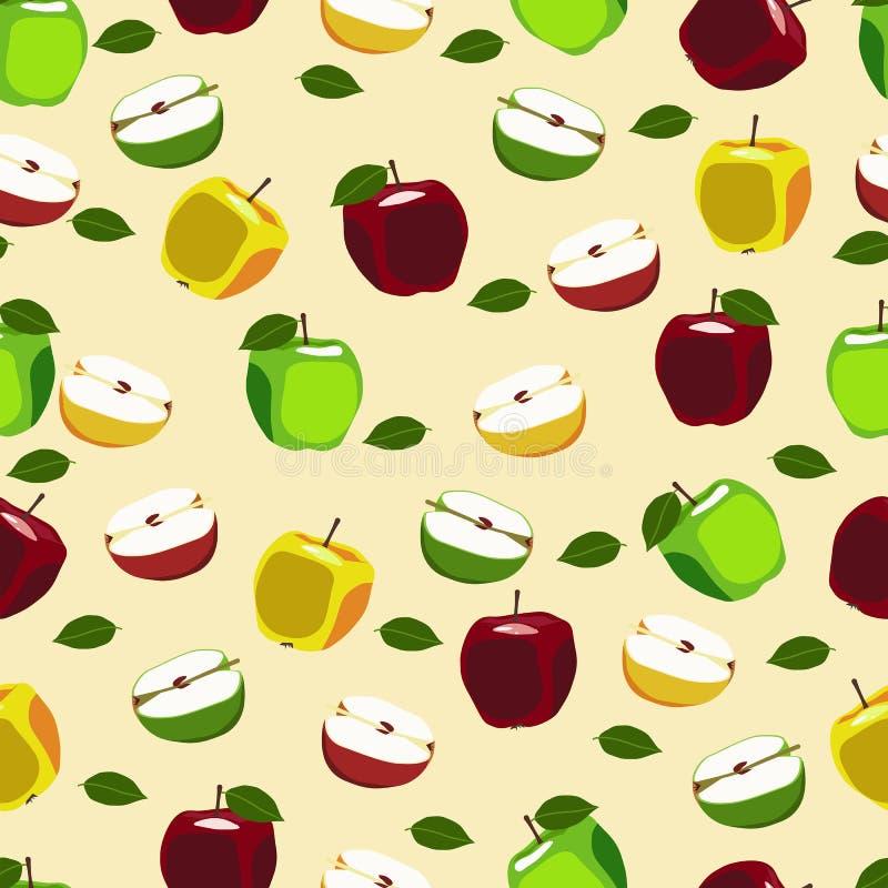 Jabłczana owoc powtarzający wzór ilustracji
