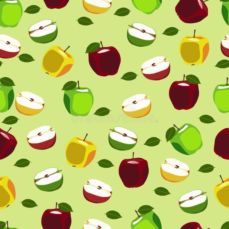 Jabłczana owoc powtarzający wzór royalty ilustracja