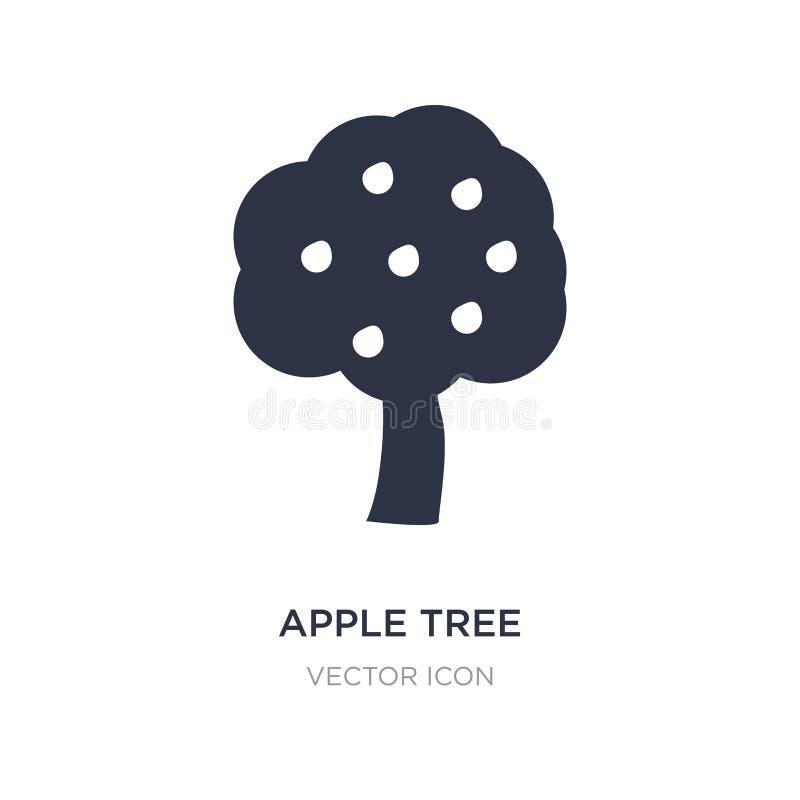 jabłoni ikona na białym tle Prosta element ilustracja od sezonu pojęcia ilustracji