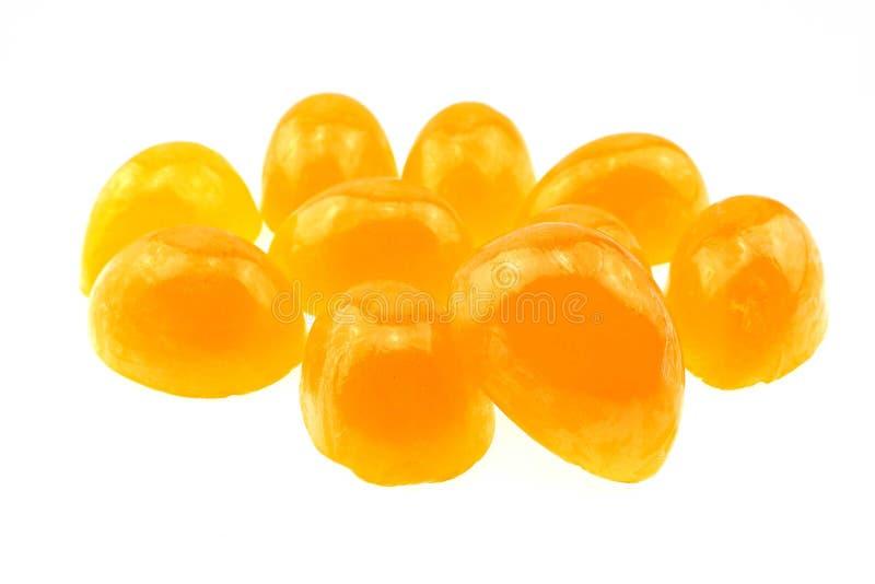Jabón anaranjado en el fondo blanco fotografía de archivo libre de regalías
