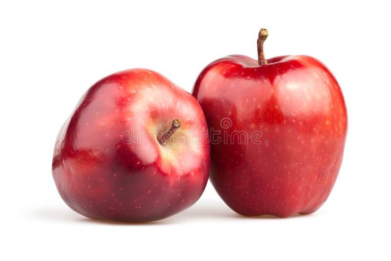 Jabłczana czerwień dwa obrazy royalty free