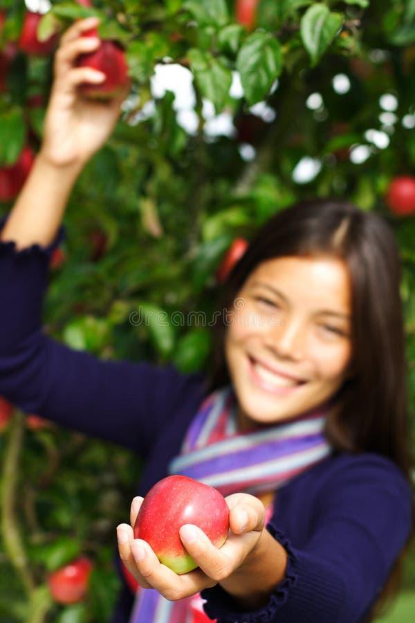 jabłczana daje kobieta obraz stock