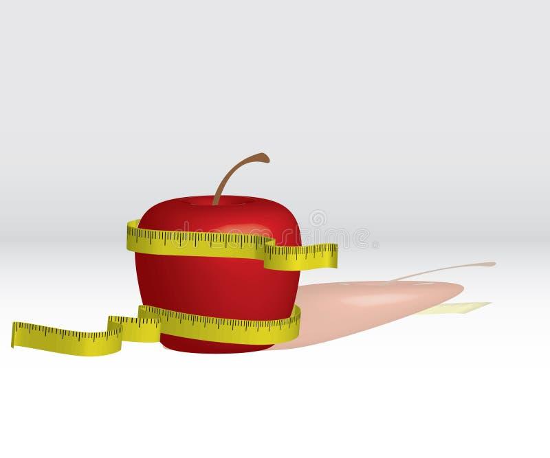 jabłczana dieta ilustracji