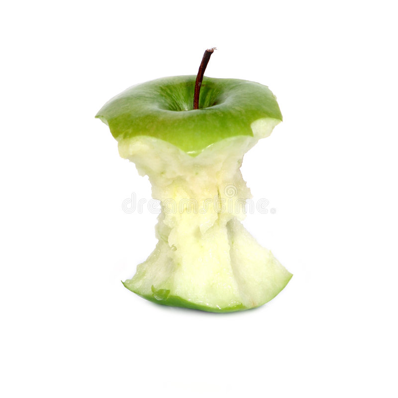 jabłczana green rdzenia obraz stock