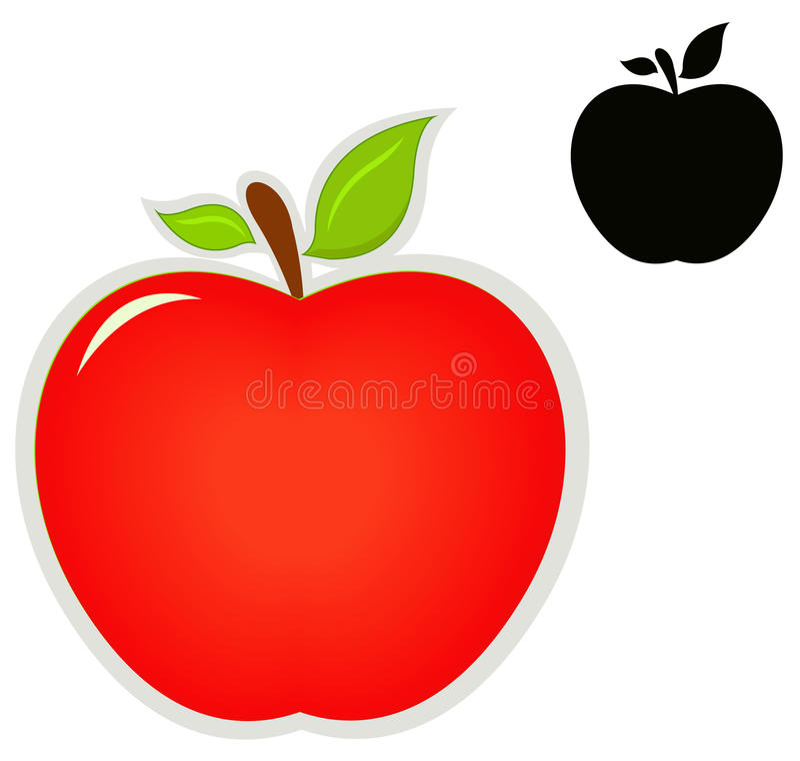 Jabłczana ikona royalty ilustracja