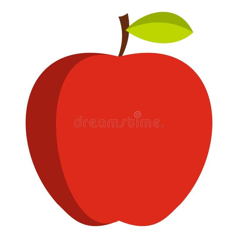 Jabłczana ikona odizolowywająca ilustracji
