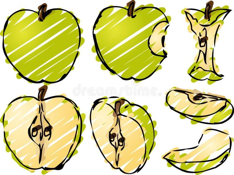 jabłczana ilustracja ilustracja wektor