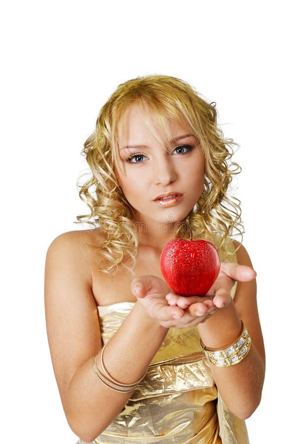 jabłczana kobieta fotografia stock