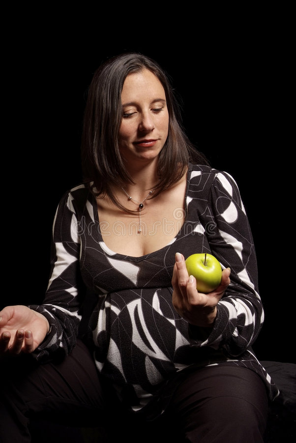 jabłczana kobieta zdjęcie stock