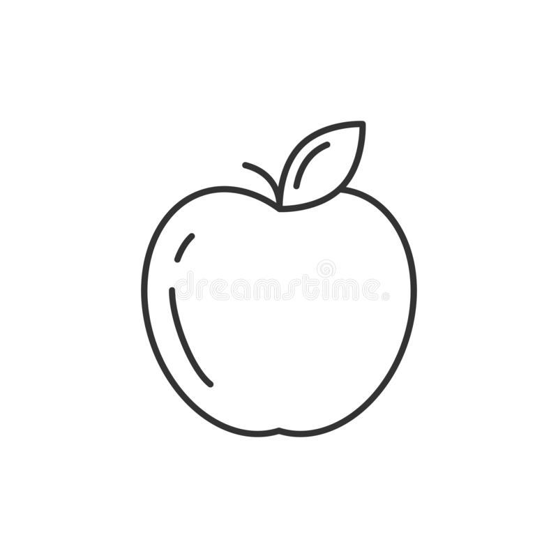 Jabłczana kontur ikona royalty ilustracja