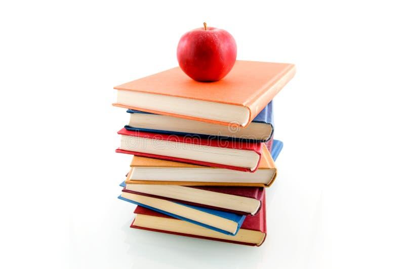 jabłczana książkowa sterta zdjęcia stock