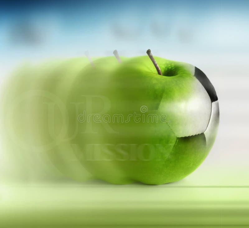 jabłczana piłka nożna zdjęcia stock