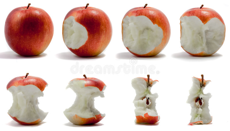 jabłczana sekwencja fotografia royalty free