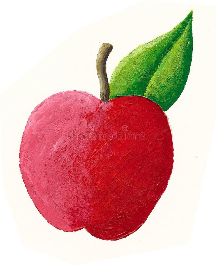 jabłczana soczysta czerwień royalty ilustracja