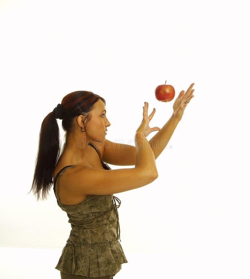 jabłczana zdrowa dziewczyna zdjęcia royalty free