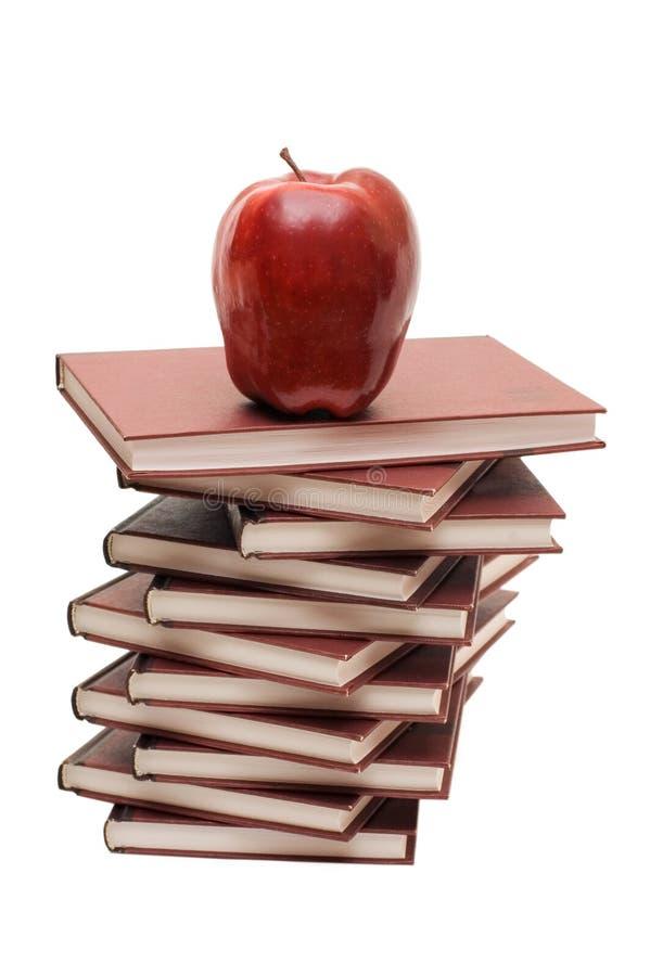 Download Jabłczane Książki Odizolowywająca Sterta Obraz Stock - Obraz złożonej z świeżość, zdrowy: 13338871