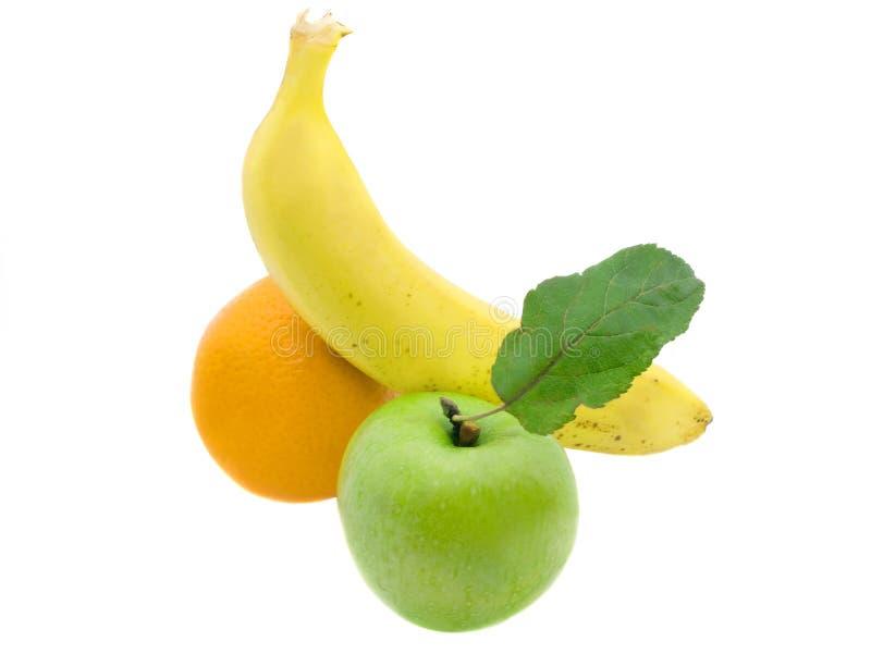 jabłczanego banana pomarańcze obrazy stock