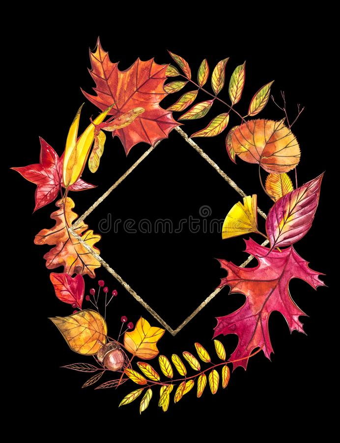 jabłczanego jesień świeczek składu susi liść target2422_0_ wazę Wianek robić jesień liście i jagody na białym tle dzieci target35 zdjęcie royalty free