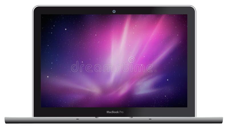 jabłczanego macbook nowy pro royalty ilustracja
