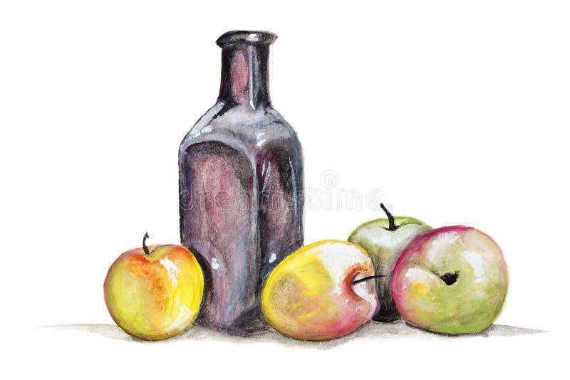 Download Jabłczanego soku pojęcie ilustracji. Ilustracja złożonej z glassblower - 28950862