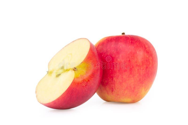 jabłczanego tła świeży odosobniony czerwony biel fotografia royalty free