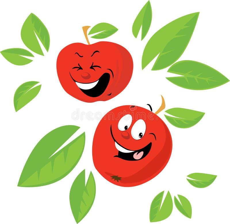 Jabłczanej kreskówki Śmieszny Wektorowy Płaski projekt zdjęcie royalty free