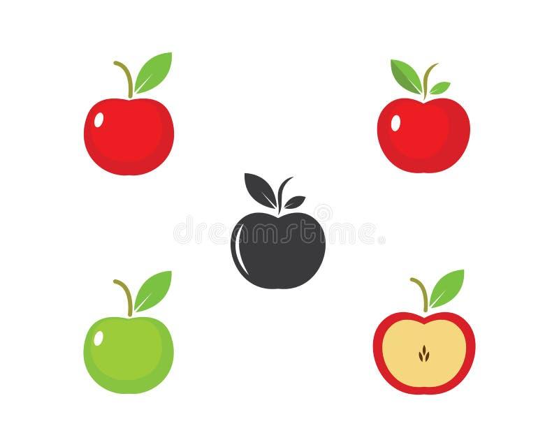 Jabłczanej logo ikony wektorowy ilustracyjny projekt ilustracja wektor