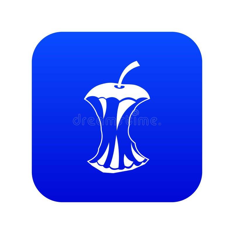 Jabłczanej sedno ikony cyfrowy błękit royalty ilustracja