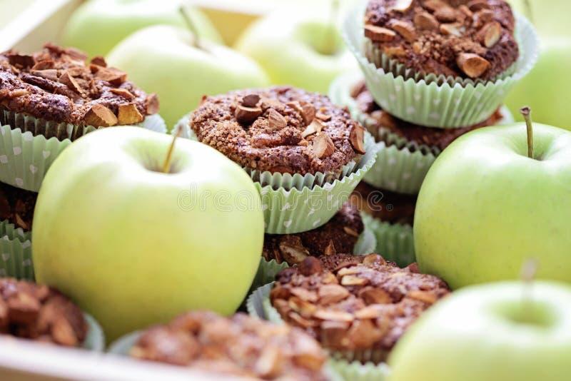 Jabłczani muffins fotografia stock