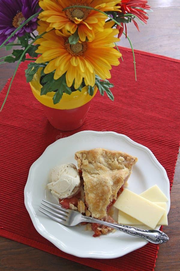 Jabłczany, czereśniowy kulebiak/losu angeles tryb fotografia stock