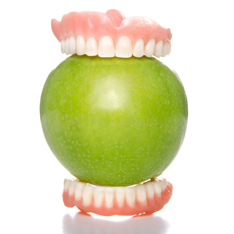 jabłczany duży kąsek fotografia royalty free