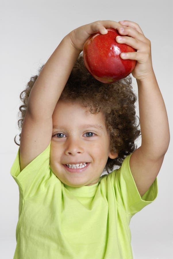 Jabłczany dzieciak. zdjęcie stock