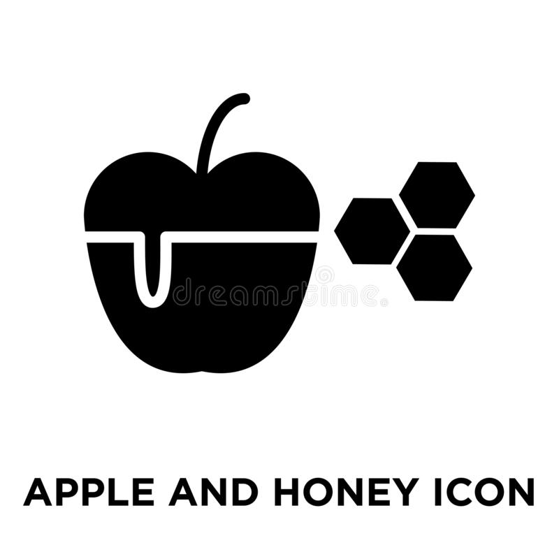 Jabłczany i Miodowy ikona wektor odizolowywający na białym tle, logo c royalty ilustracja