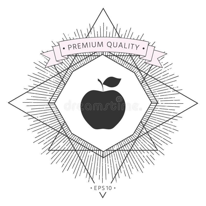 Jabłczany ikona symbol ilustracja wektor
