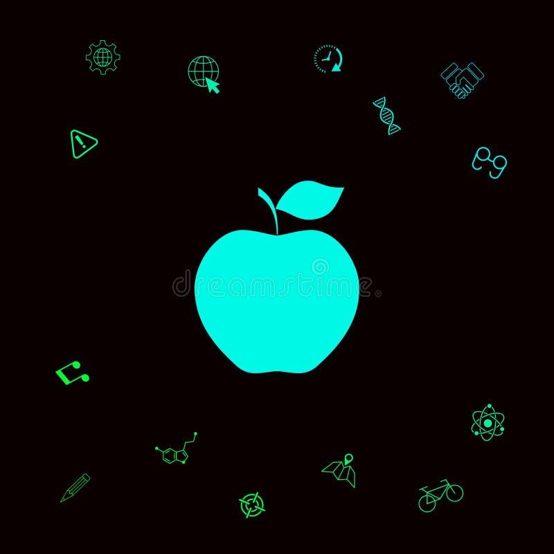 Jabłczany ikona symbol royalty ilustracja