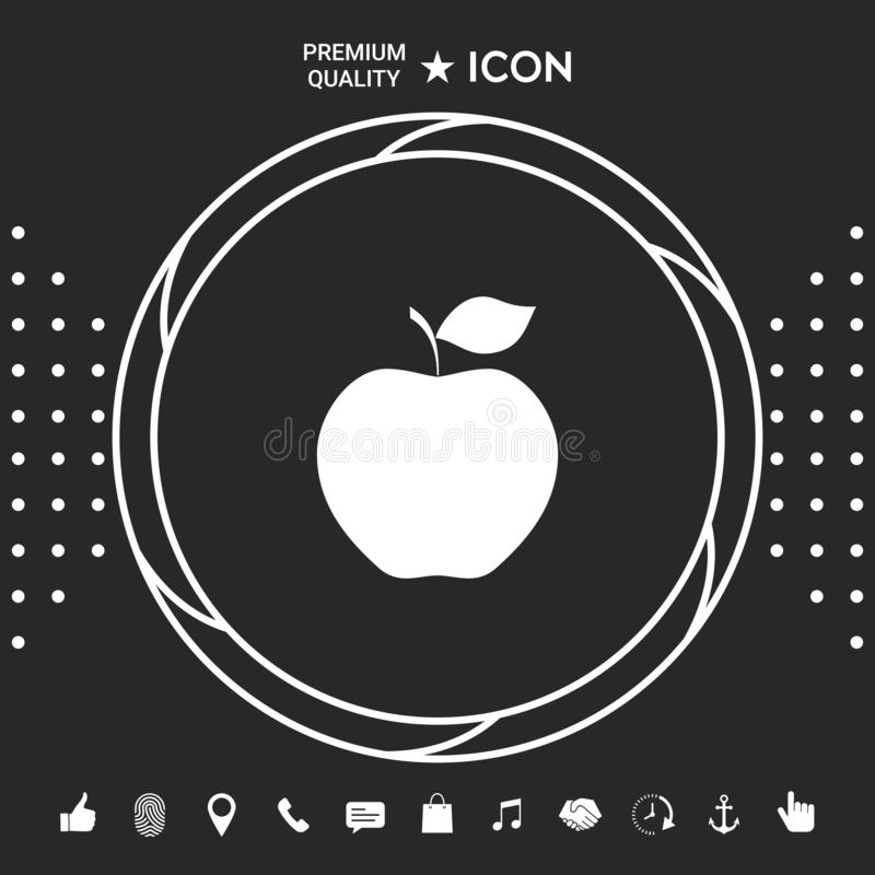 Jabłczany ikona symbol ilustracji