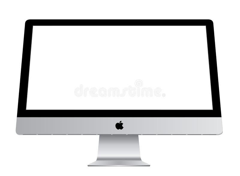 Jabłczany iMac ilustracji