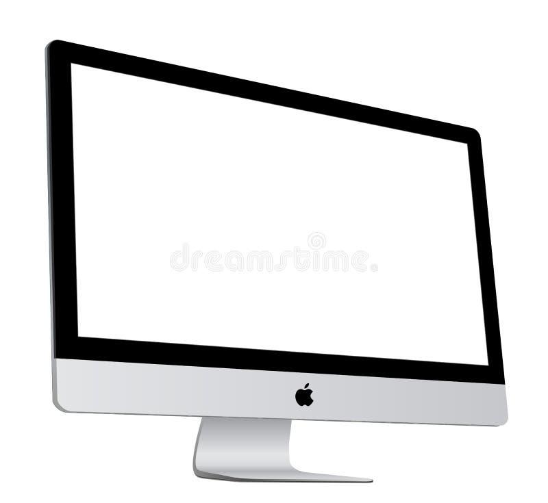 Jabłczany iMac royalty ilustracja