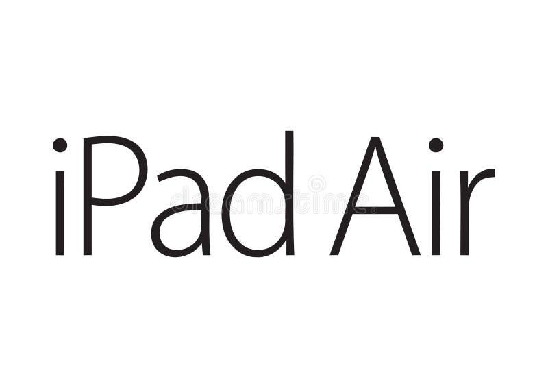 Jabłczany IPad powietrza logo ilustracja wektor